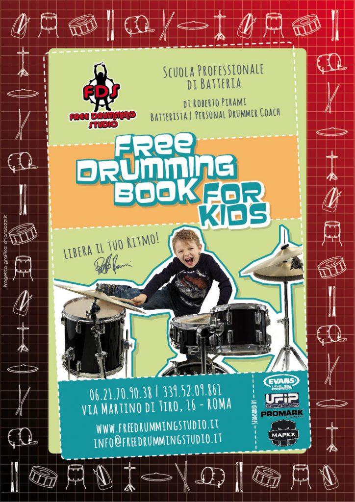 Danilo Lupacchini, Scuola di batteria, Free Drumming Studio, Roma corso di batteria per bambini